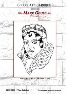 Chocolate Baroque Mark Gould The Aviator Rubber Stamp